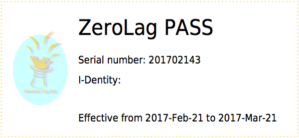 ZeroLag PASS one week Cleaning PASS - ZeroLag PASS Type Image